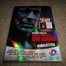 Die Hard 4: Live Free or Die Hard (DVD, 2007, 2-Disc Set, Unrated) BRAND NEW