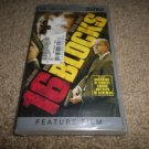 16 BLOCKS UMD PSP - PLAYSTATION PORTABLE W/CASE BRUCE WILLIS (BRAND NEW)