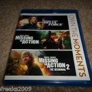 DELTA FORCE,MISSING IN ACTION 1 & 2 BLU RAY CHUCK NORRIS