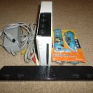 WHITE NINTENDO WII CONSOLE MARIO BUNDLE PLEASE READ BELOW WORKS!