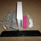 WHITE NINTENDO WII CONSOLE MARIO/DONKEY KONG BUNDLE PLEASE READ BELOW - WORKS!