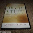 JENTEZEN FRANKIN THE RIGHT STUFF 2-DISC AUDIO CD