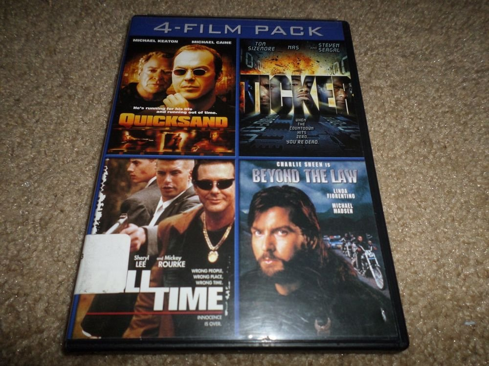 QUICKSAND/TICKER/FULL TIME/BEYOND THE LAW DVD