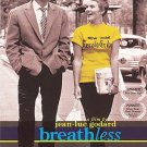 JEAN-LUC GODARD Breathless (DVD, 2001) JEAN-PAUL BELMONDO FRENCH W/ENGLISH TITLE