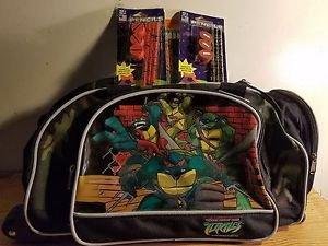 Teenage mutant ninja turtles rolling bookbag travel plus Pencils and sharpeners