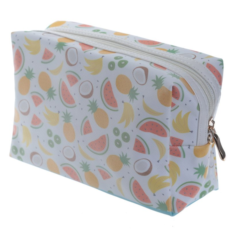 Handy PVC Make Up Toilette Wash Bag - Tropical Fruits