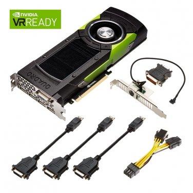 PNY VCQM6000-24GB-PB Quadro M6000 24GB GDDR5 PCIE3.0 DPx4/DVI-I DL