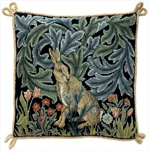 HARE Needlepoint CANVAS Beth Russell William Morris