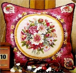 Aubusson Flowers Needlepoint Kit by Glorafilia (gl5049)