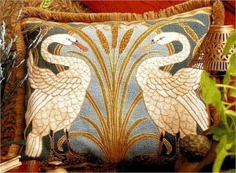 Swans Cushion Needlepoint Kit by Glorafilia (gl4174a)