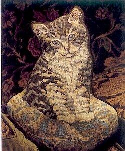 Kitten on a Cushion Needlepoint Kit by Glorafilia (gl592)