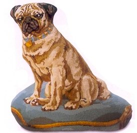 Dog Purple Pug Needlepoint Kit by Glorafilia (gl4180)