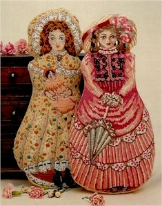 Amanda Victorian Doll (Pink Dress) Needlepoint Kit by Glorafilia (gl639)