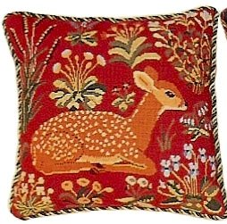 Medieval Deer Red Needlepoint Kit (glcr05r)