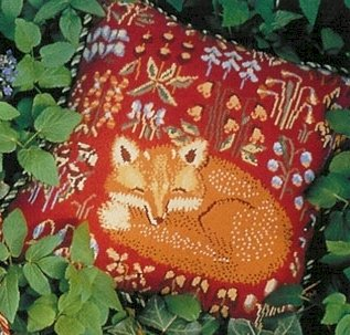 Medieval Fox Red Needlepoint Kit (glcr06r)