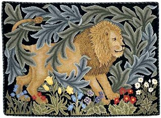 LION Needlepoint CANVAS Beth Russell William Morris