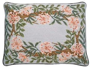 HONEYSUCKLE Border Grey background Needlepoint CANVAS Beth Russell William Morris