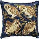 OWLS Needlepoint CANVAS Beth Russell William de Morgan