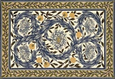 AFRICAN MARIGOLD RUG Needlepoint CANVAS Beth Russell William Morris