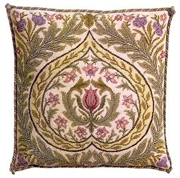 EDEN Pale background Cushion Needlepoint CANVAS Beth Russell William Morris