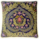 EDEN Blue background Cushion Needlepoint CANVAS Beth Russell William Morris