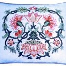 LODDEN 1 Grey background Cushion Needlepoint CANVAS Beth Russell William Morris
