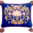 LODDEN 2 Blue background Cushion Needlepoint CANVAS Beth Russell William Morris