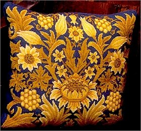 SUNFLOWER 1 Cushion Needlepoint KIT Beth Russell William Morris