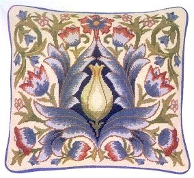 ARTICHOKE 1 Cushion Needlepoint KIT Beth Russell William Morris