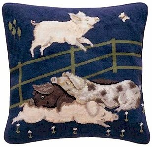 PIGS Needlepoint KIT Beth Russell William de Morgan
