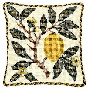 LEMON - FRUIT Needlepoint KIT Beth Russell William Morris