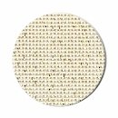 "Metallic 18 mesh Mono DeLuxe Gold Eggshell 40"" wide Needlepoint Canvas Zweigart (1285-028-40)"