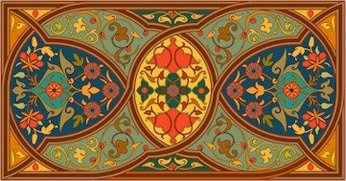 Arabesque Needlepoint Rug Canvas (ar19-054r)