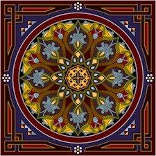 Arabesque Needlepoint Cushion Canvas (ar22-015c)