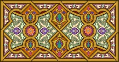 Arabesque Needlepoint Cushion Canvas (ar19-053c)