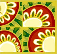 Collage Sunflowers Needlepoint Canvas (ab1-21)