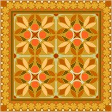 American Quilt Cushion Needlepoint Canvas (ar18-020c)