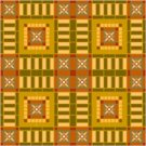 American Quilt Cushion Needlepoint Canvas (ar18-054c)