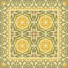 Art Nouveau Tile Needlepoint Rug Canvas Lena Lawson (ar18-019r)