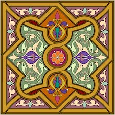 Arabesque Cushion Needlepoint Canvas Lena Lawson (ar19-053clgsq)