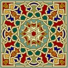 Arabesque Cushion Needlepoint Canvas Lena Lawson (ar19-063c)