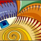 Abstract Dragon Eye Needlepoint Canvas (ab1-2)