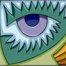 Abstract Dragon Eye 2 Needlepoint Canvas (ab1-15)