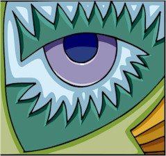 Abstract Dragon Eye 2 Needlepoint Canvas (ab1-15)