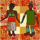 Man and Wife African Folk Art Needlepoint Canvas (af1-8)