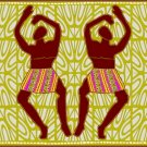 Dancing Men African Folk Art Needlepoint Canvas (af1-9)