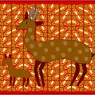 Gazelle African Folk Art Needlepoint Canvas (af1-13)