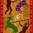 Hunting African Folk Art Needlepoint Canvas (af1-12)
