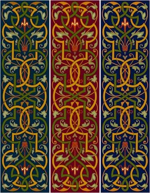 Arabesque Bellpull Or Table Runner Needlepoint Canvas (ar22-085b)