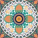 Arabesque Cushion Needlepoint Canvas Lena Lawson (ar9-ar-01c1)